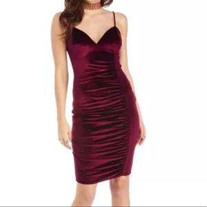 Windsor suede burgundy dress